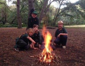Broadstone Cubs Firelighting